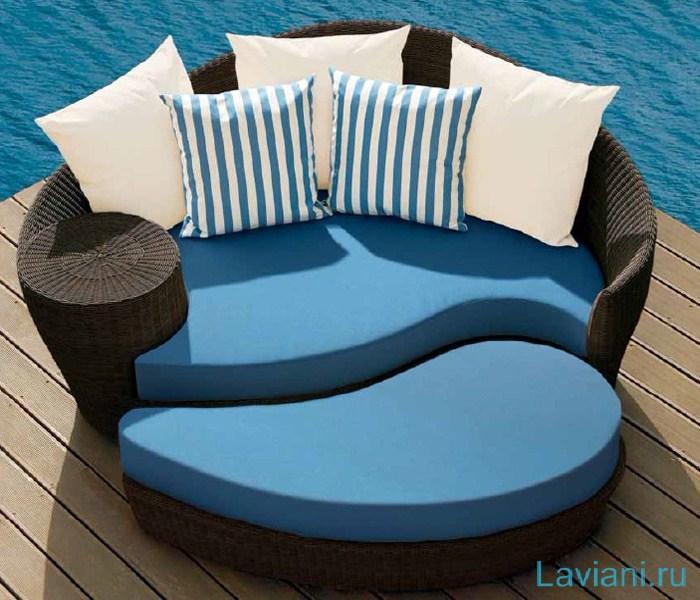 Комплект 01/17 Багама плетеный из ротанга включает 2 кресла, 2-местный диван