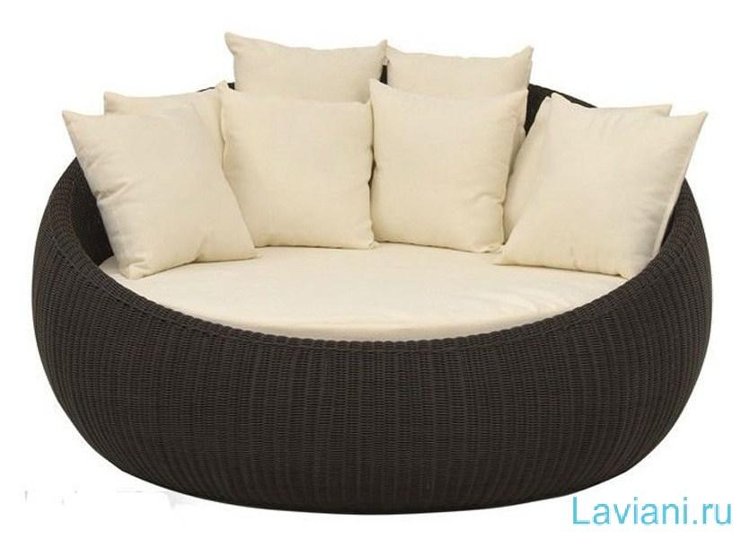 Комплект для гостиной Simona плетеный из ротанга включает 2 кресла